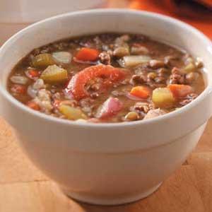 суп из говяжьего фарша фото