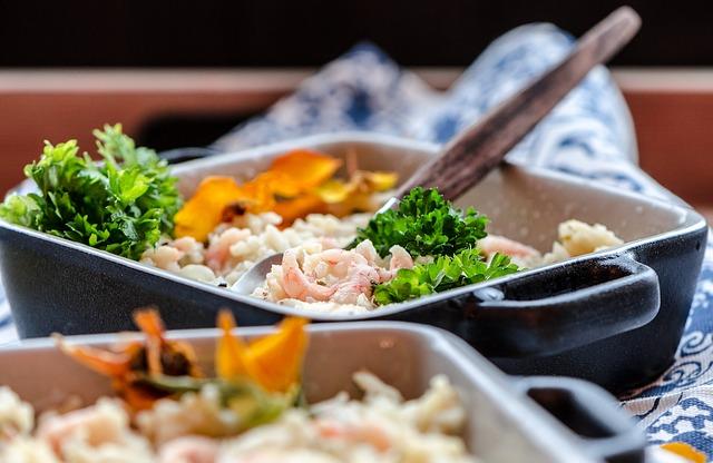 диетический салат с креветками фото