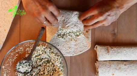 фото как сделать лаваш с начинкой