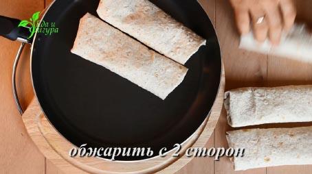 фото роллов из лаваша с начинкой из творога