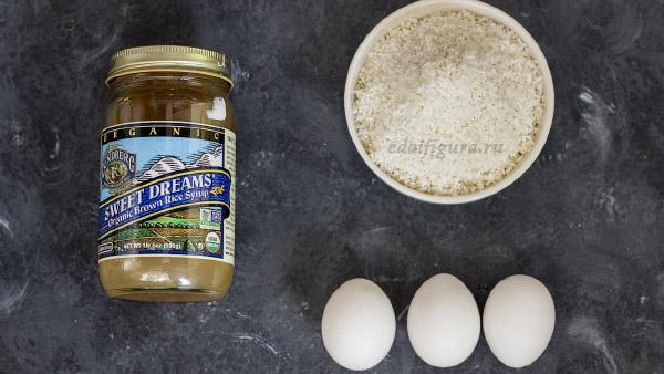 фото ингредиентов для печенье из кокосовой стружкой