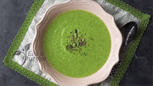 Диетический суп-пюре из брокколи фото