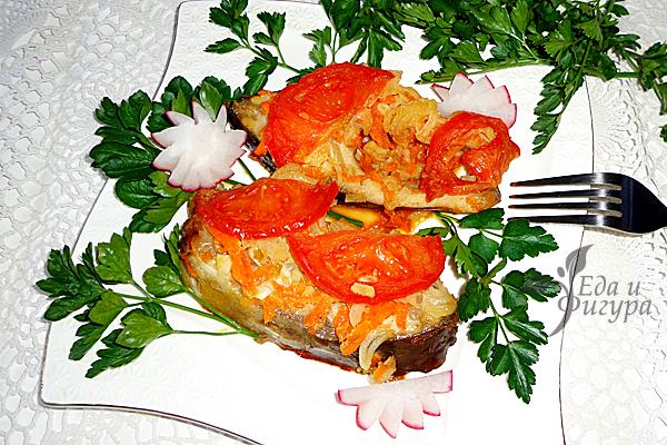 запеченный карп с овощами фото