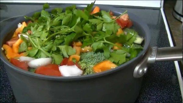 диетический овощной суп фото