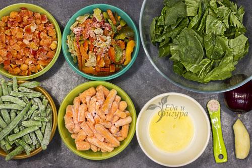 салат из замороженных овощей фото