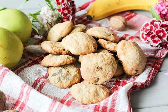 фото домашнее овсяное печенье