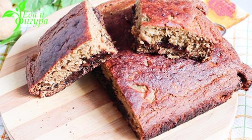 бананово-шоколадный хлеб фото
