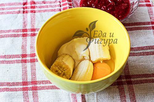 Бананово-малиновый трайфл фото