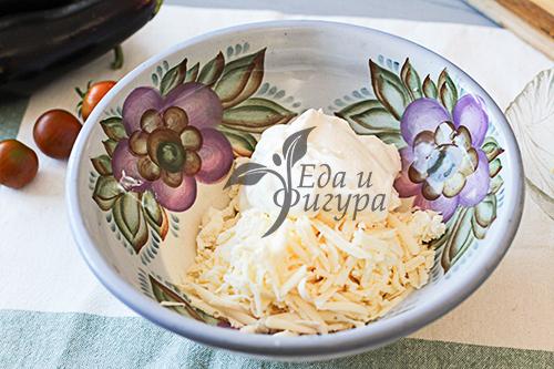 Баклажаны запеченные с творогом и сыром фото
