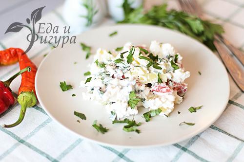 Салат с творогом на ужин фото