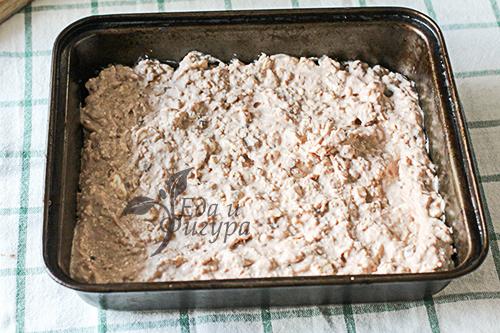 Шоколадно-овсяный пирог фото