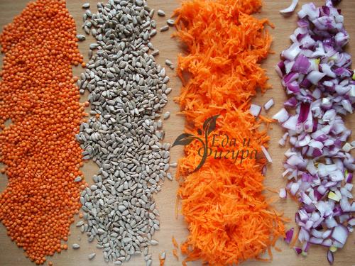 чечевичные котлеты фото ингредиентов