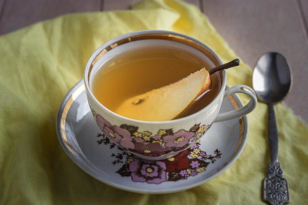 зеленый чай с имбирем фото зеленого чая с имбирем и грушей