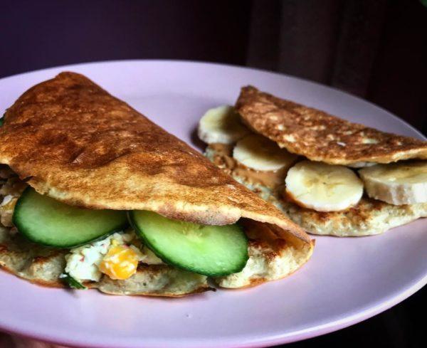 полезный завтрак фото овсяноблина с разными начинками