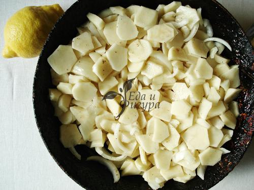 картофельный пирог фото нарезанного кружочками картофеля