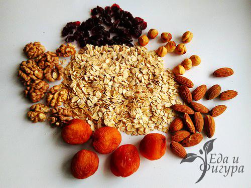 домашняя гранола фото ингредиентов для гранолы