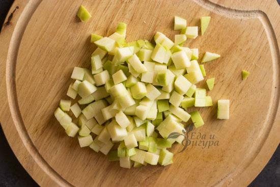 льняная каша фото нарезанных яблок