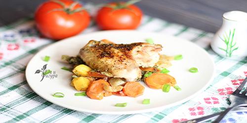 куриные крылышки с овощами фото готового блюда