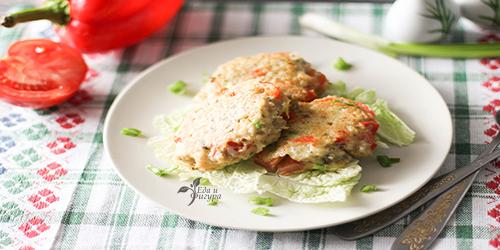 рыбные котлеты с овощами фото готового блюда