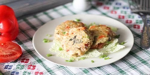 рыбные котлеты с овощами фото готовых котлет на тарелке