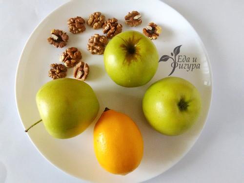 салат вальдорф фото яблок и орехов