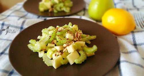 салат вальдорф фото готового блюда