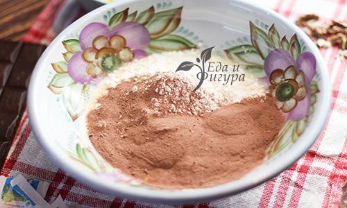 шоколадный брауни фото шоколадного протеина и рисовой муки