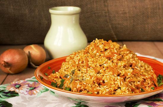 бурый рис с овощами фото готового блюда