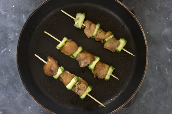 шашлык из куриной грудки фото шашлыка на сковороде