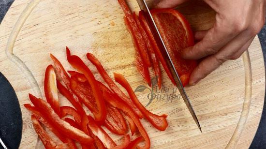 фото стрелки чеснока и болгарского перца
