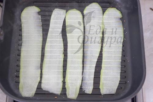фото кабачков на сковороде гриль