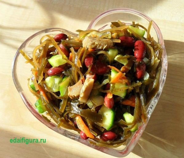 диетический салат из морской капусты фото