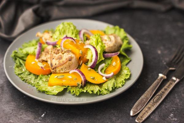 рецепты с хурмой фото салата