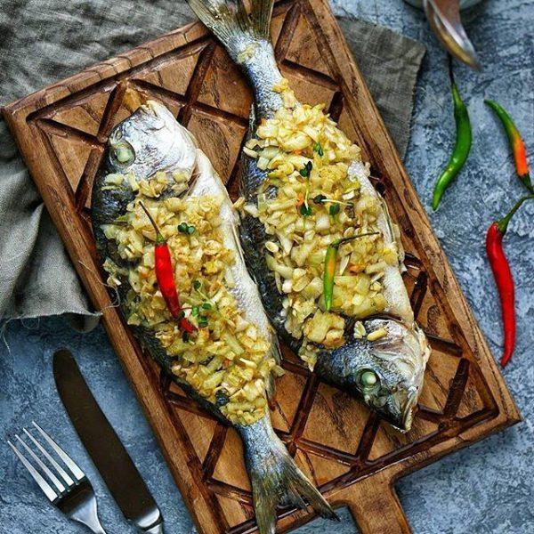 диетическая рыба в духовке фото