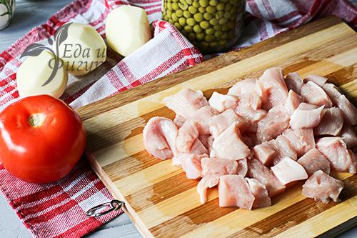 Куриная грудка с овощами фото