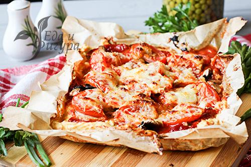ПП пицца с курицей фото
