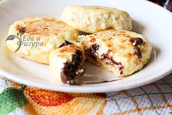 Сырники с шоколадом фото
