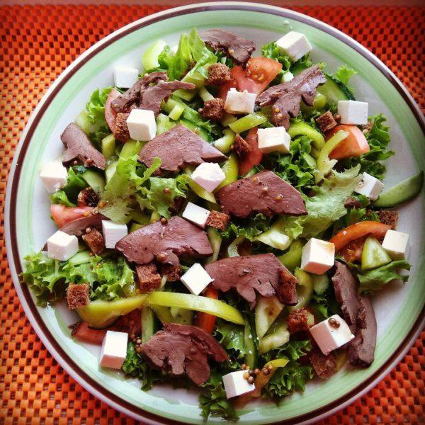диетический овощной салат фото