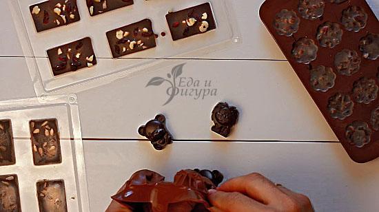 конфеты из кэроба фото достаем из формы готовые конфеты