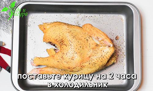 курица с яблоками в духовке фото