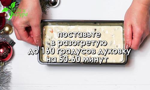 рождественский кекс фото теста для кекса в противене