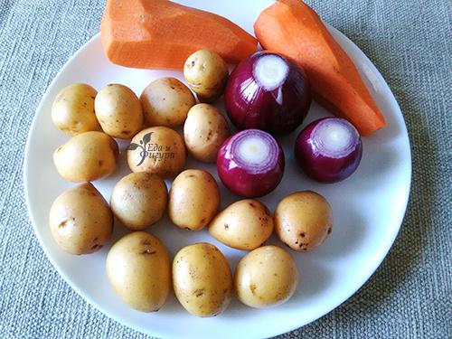 куриная грудка с овощами в духовке фото ингредиентов