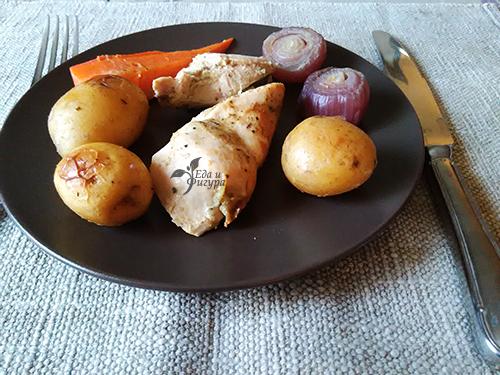 куриная грудка с овощами в духовке фото готового блюда