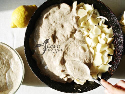 картофельный пирог фото нарезанного кружочками картофеля и теста