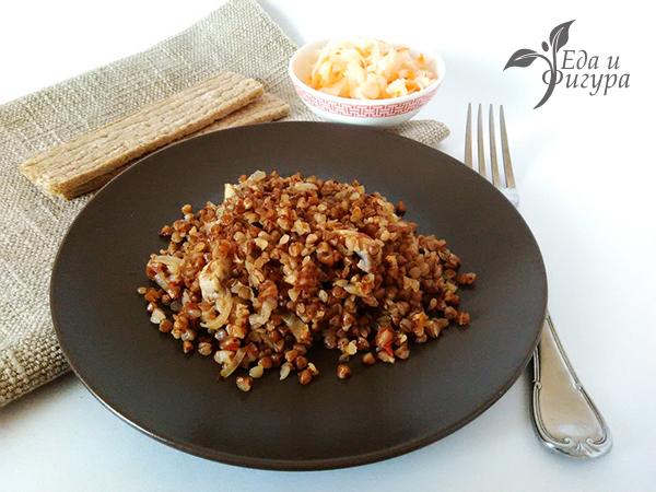 гречка с грибами и овощами фото готового блюда
