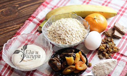 диетическое овсяное печенье фото ингредиентов