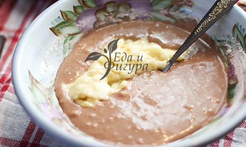 шоколадный брауни фото шоколадного протеина, рисовой муки и бананового пюре