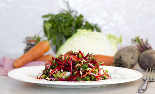 салат «Щетка» фото